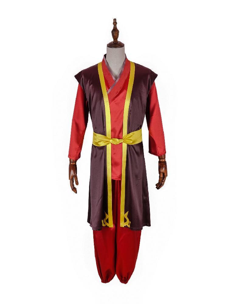 Anime Avatar Last Airbender Ancestor Prince Zuko Cosplay Costume