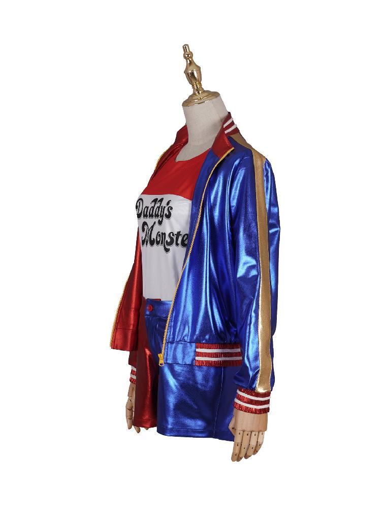 DC Movie Birds of Prey Squad Harley Quinn Baseball Uniform Cosplay Costume