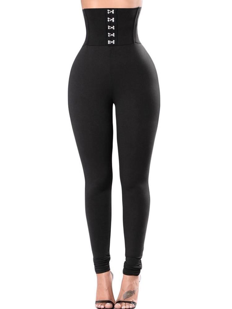 Sexy Black Corset Belt High Waist Tights Leggings