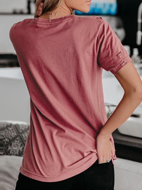 Geometric Pattern Short Sleeve Cotton Tee