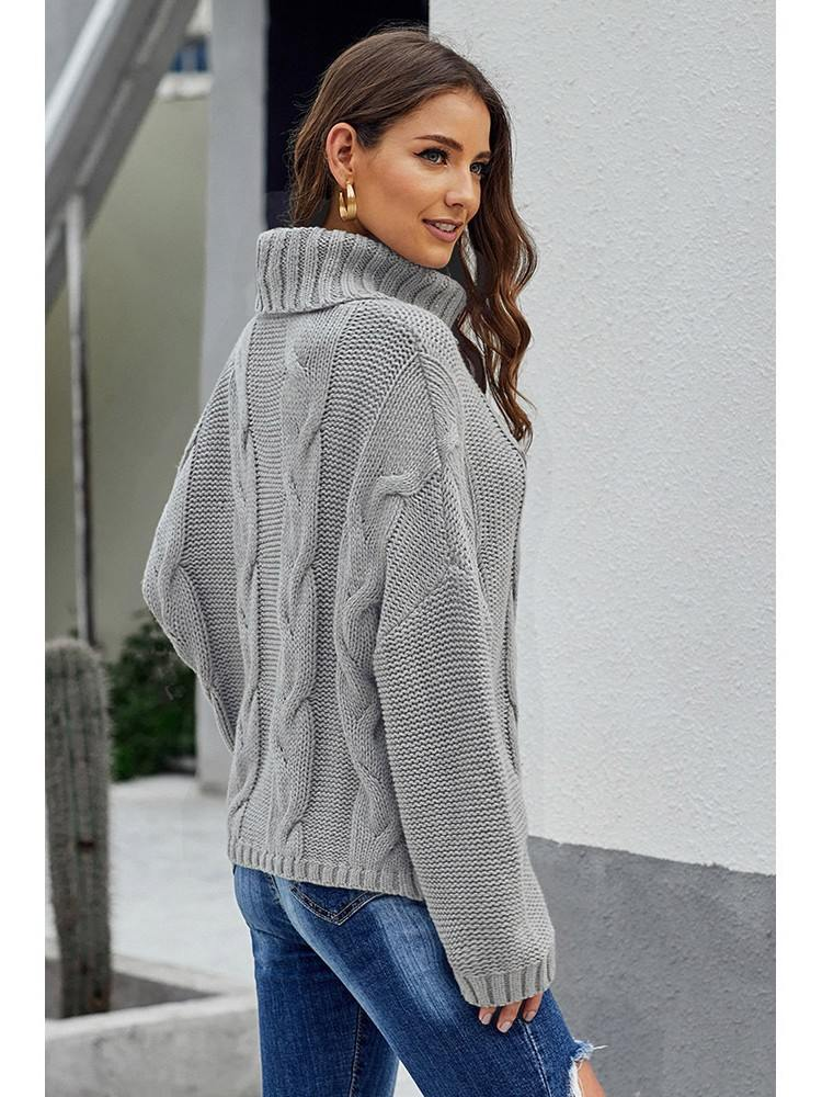 Cuddle Cable Knit Handmade Turtleneck Sweater