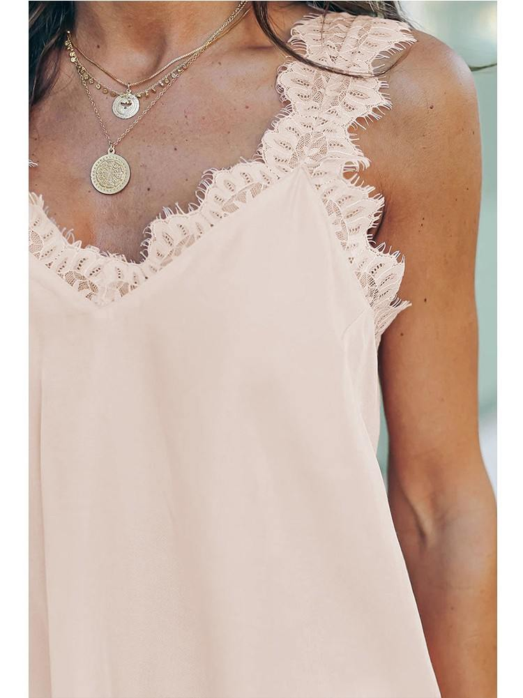 Lace Stitching Facade Tank Top