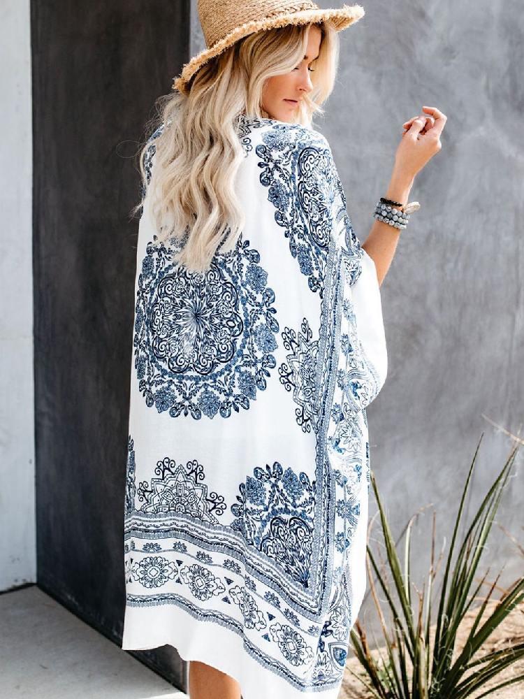Fashion Mandala Lace Kimono