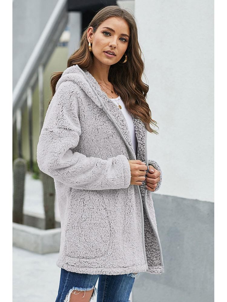 Mid-length Thick Winter Wubby Casual Women Coat