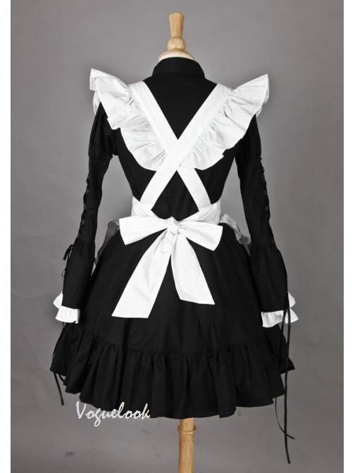 British Style Long Sleeves Lovely Cotton Maid outfit Cosplay Costume