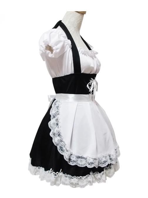 Cosplay sweet pretty maid Costume Lace Lolita Dress