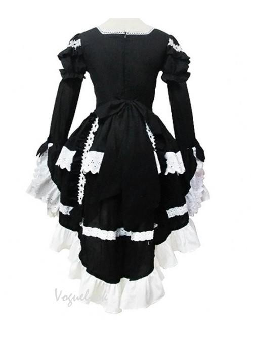 Angel Love Princess Dress Black White Cosplay Maid Costume