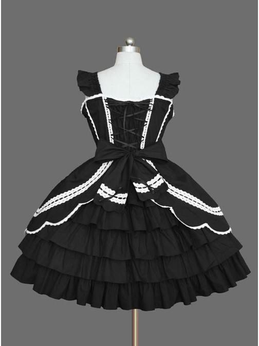 Lolita gothic waist suspender one-piece skirt Sleeveless palace Dress