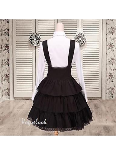 Lolita college bow fake two-piece long sleeves School Lolita Dress