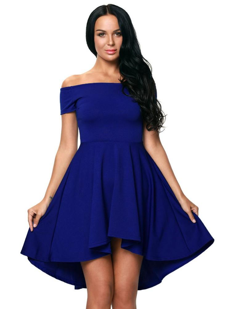 Sexy Evening Dress Blue All The Rage Skater