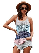 Knitted Camisole Cami Thin Shoulder Strap Casual Tank Top