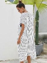 Loose Female Striped Kimono