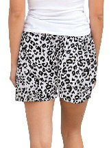 Casual Leopard Print Knitted Waist Shorts