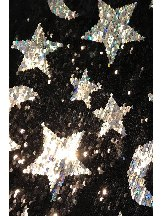 Shining Stars Stitching Sequined Flare Pants