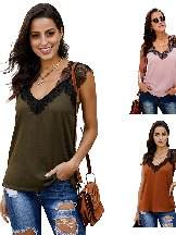 Sling One More Night Casual Lace Cami Tank