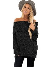 Long-sleeved Sexy Off The Shoulder Comfy Sweater