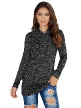 Women All This Time Zipper Pullover Top