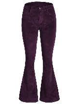 Velvet Flared Bottom Leg Pants