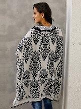 Women Beach Printed Prowess Mid-length Loose Kimono