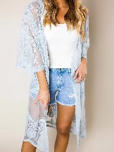 Sexy Crochet Loose Lace Kimono