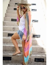 Color Me Pretty Tie-dye Kimono