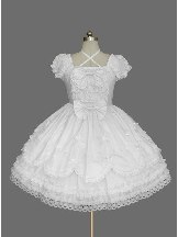 gothic short-sleeved lace Cotton Bowknot Sweet Lolita Dress