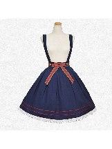 Tibetan Blue Bowknot Lace Strap Skirt Tutu School Lolita Dress