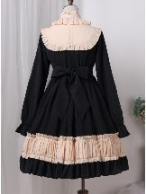 Long Sleeves Bowknot Sweet cradle doll Lolita Dress