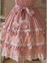Crisp Crispy Cream Series Cute Doll JSK-Little Bear Dress High Waist Sweet Lolita Dress
