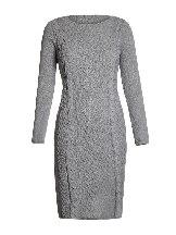 Dark brown Winter Unique Hand Knitted Long Sleeve Slim Sweater Dress
