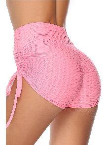 Dark blue Summer Tight-fitting Butt Lifting High Waist Yoga Shorts