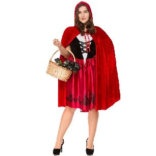 Little Red Riding Hood Costume Adult Parent-Child Costume Plus Size Halloween Costume