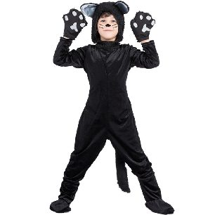 Animal Black Cat Costume Kids Halloween Costume