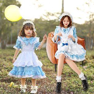 Three-color Lolita kindergarten Alice maid cosplay costume