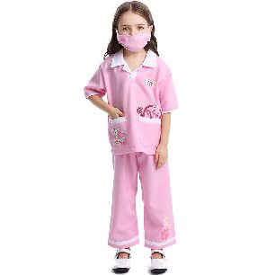 cute kids vet clothing Two colors optional Children role cos play medical staff clothing Halloween costume