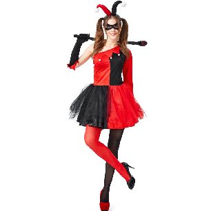circus clown movie hero villain halle costume Halloween costume adult