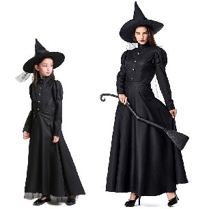 The Wizard of Oz Black Witch Playing Parent-child Halloween Costume