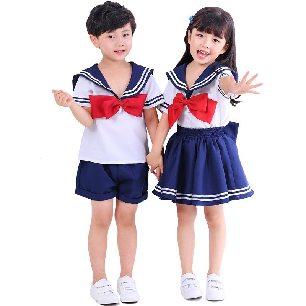 kids school uniform jk navy collar sailor uniform boy girl kindergarten sailor soldier Halloween cosplay costume