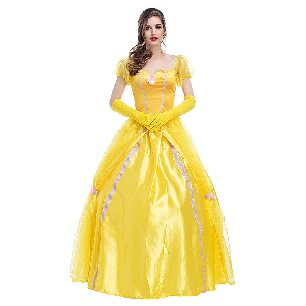 princess dress yellow retro court costume singer Halloween costume