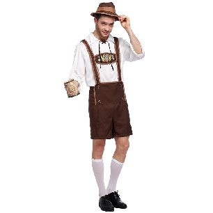 German Oktoberfest Costume Male Style Adult Carnival Costume Halloween Costume