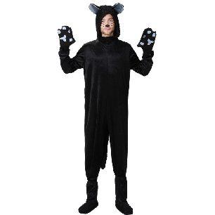 black cat couple outfit black one-piece parent-child outfit dress Halloween costume
