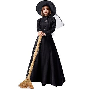 witch magic robe Wizard of Oz western witch costume parent-child Halloween costume