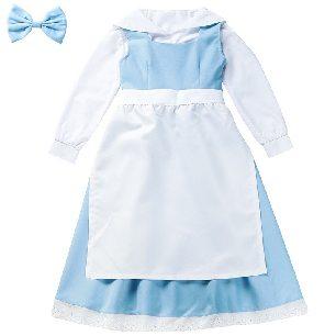 Children blue white maid fairy tale costume school costume Halloween Costume