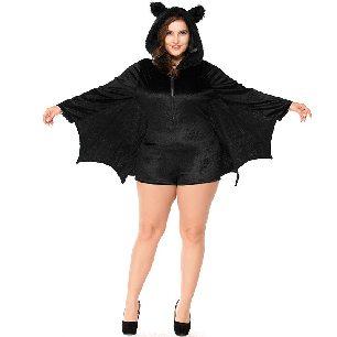 black bat women vampire uniform Adult Halloween costume