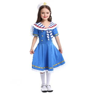 Halloween kids British style royal navy outfit brave sailor suit cosplay Costume