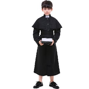 Choir costumes Kids church priests Cosplay priest costumes Parent-child Halloween costume
