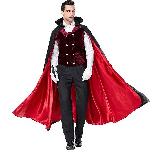 male vampire costume Earl Dracula cross dress Halloween costume