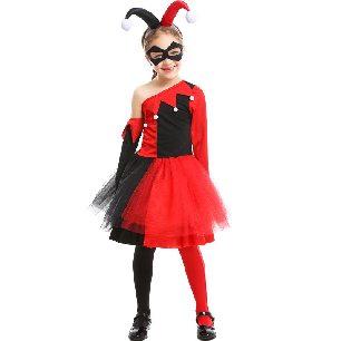girl funny clown Harry anime movie cosplay Halloween costume