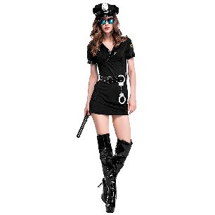 people policewoman uniform set Cosplay Halloween Costume