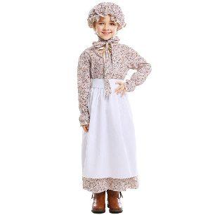 Halloween costume Parent-child costume child wolf grandmother fairy tale clothing pastoral farm skirt